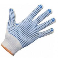 Перчатки ХБ с ПВХ 4 нити 10 класс точка, 10 пар