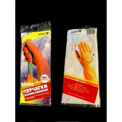 Перчатки резиновые Лотос (р-р S,M,L)