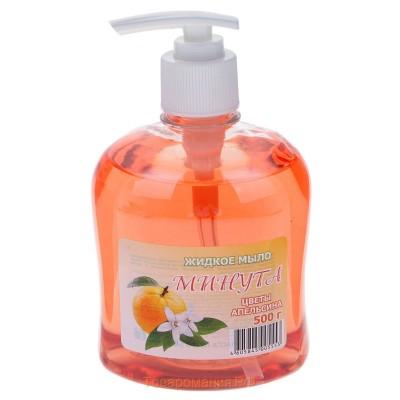 "Жидкое мыло ""Минута"" Жасмин и шалфей, Цветы апельсина, Яркий мак, 500 гр"